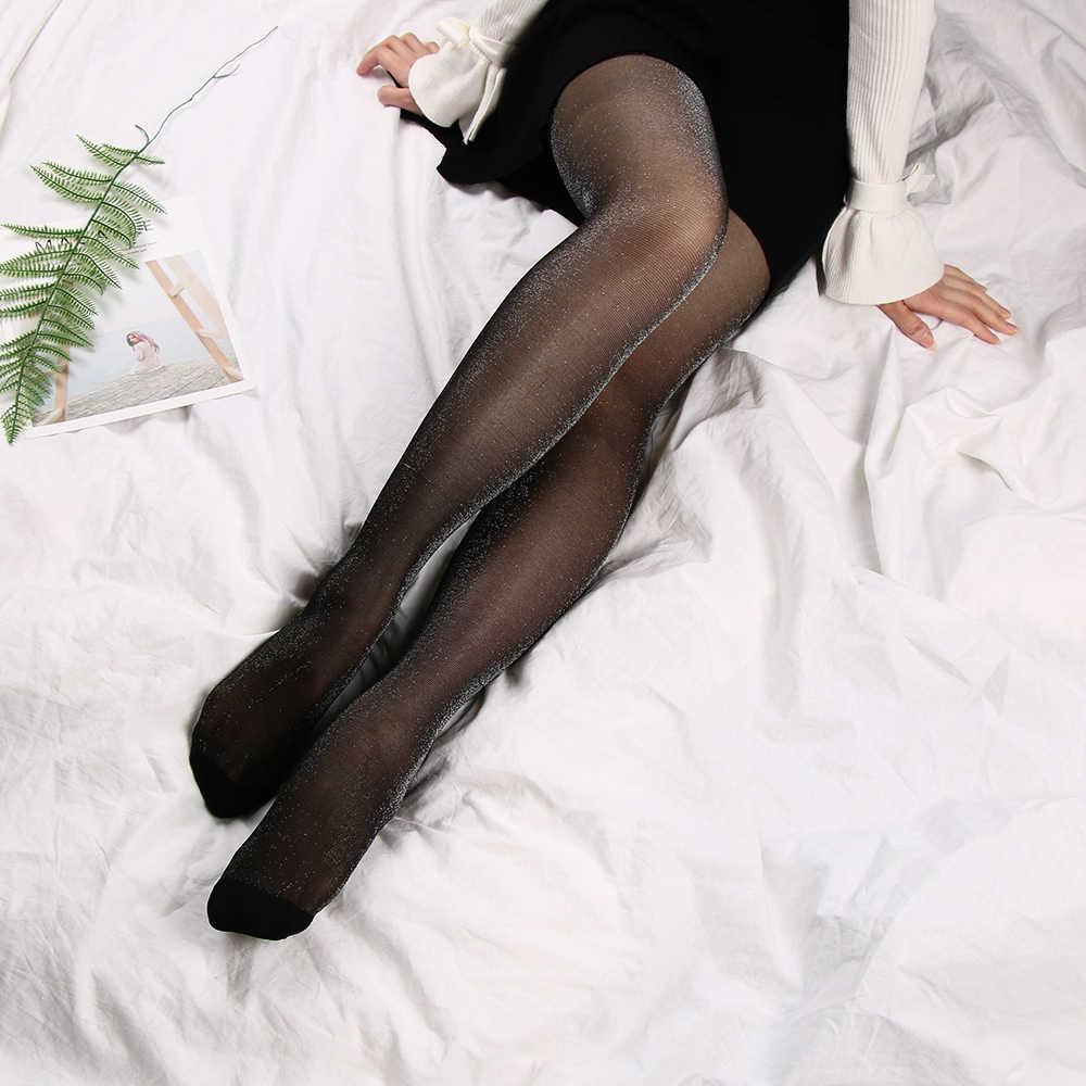 c4fbbf3295b ... 1PC Sexy Women Charming Shiny Pantyhose Glitter Soft Breathable  Stockings Women Glossy Tights Stockings ...