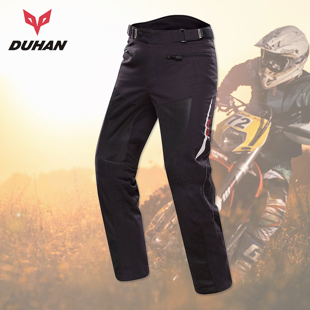 цена на DUHAN Motorcycle Pants Men Moto Trousers Racing Off-road Summer Mesh Pants Protective Gear With Pads Men's Pantalon Motocross