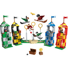BELA 11004 536pcs Harri Potter Movie Magic Quidditch Match Model Compatible With legoed 75956 Building blocks Brick Children Toy