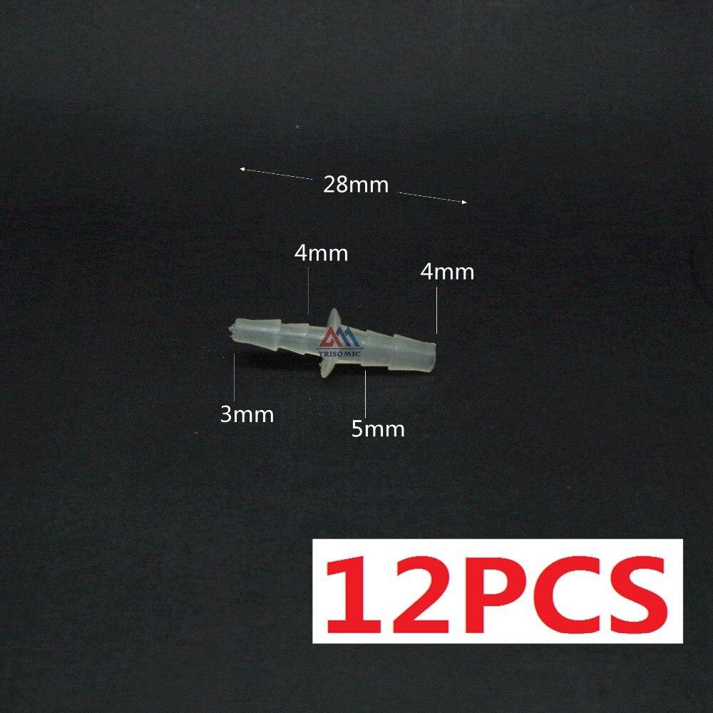 Logisch 12 Stücke 3mm Sanitär Rohre & Armaturen 4mm Gerade Reduzierung Verbindungskunststoffrohr Fitting Barbed Reduzierung Stecker