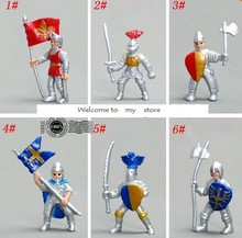 Medieval Soldier Kings Guard / Roman Soldier 6 pcs/set figure toy gift