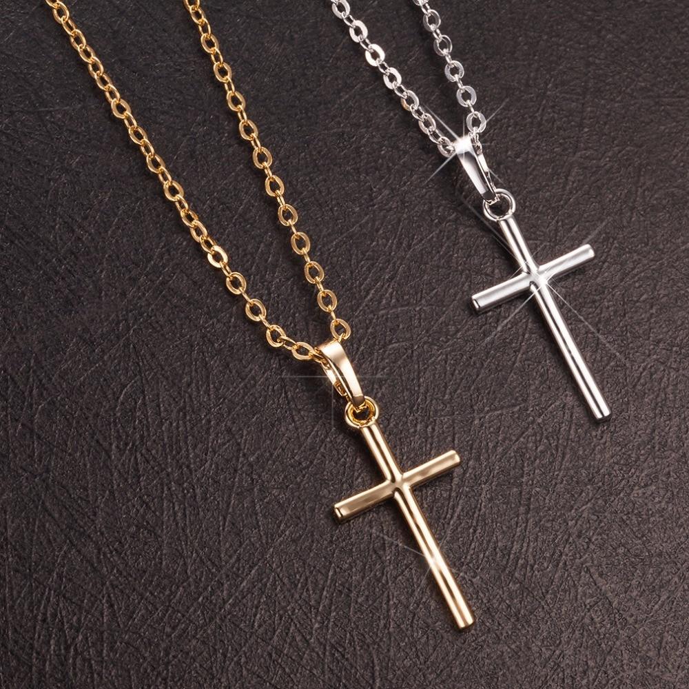 collier argent petite croix