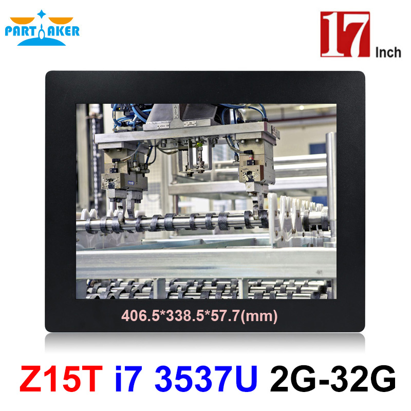 Partaker Elite Z15T 17 Inch Panel PC Industrial With Made-In-China 5 Wire Resistive Touch Screen Core I7 3537U Processor