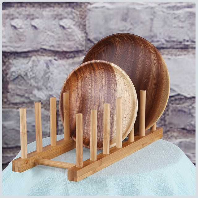 3/6 Layer Bamboo Dish Rack Kitchen Organizer Drying Rack Drainer Storage Holder Kitchen Accessories Organizer Dish Drainer Shelf 2