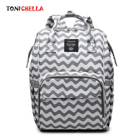 Multifunctional Diaper Bag Mummy Maternity Travel Backpack Fashion Striped Design Newborn Nursing Nappy Bag For Baby Care CL5557
