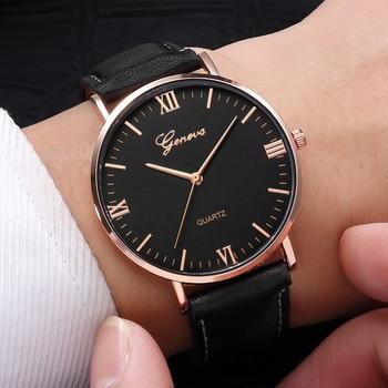 Geneva Luxury Brand Mens Watches Stainless Steel Analog Quartz Ladies Dress Wristwatches Clock Women's Watch montre homme