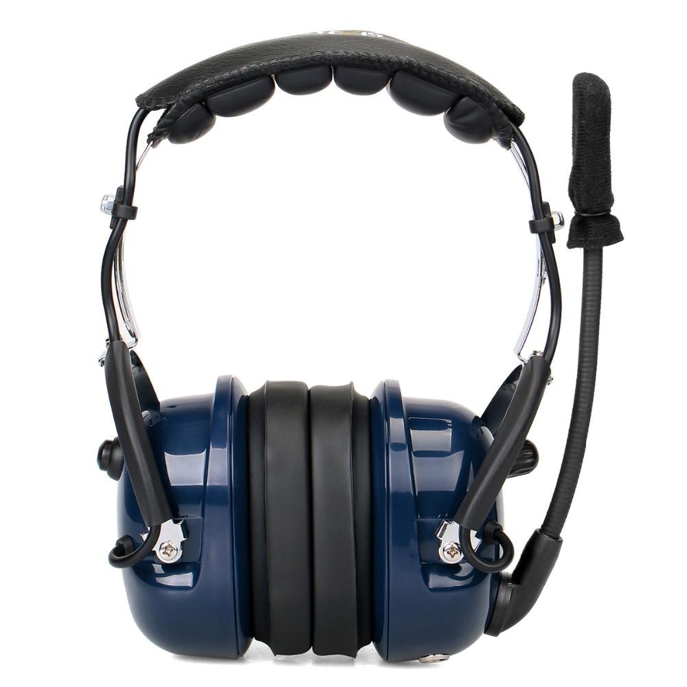 Noise Cancelling Aviation Microphone Headset Walkie Talkie Earpiece VOX Volume Adjustment for Kenwood Baofeng UV-5R Retevis H777