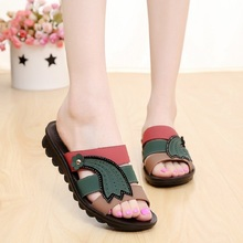 2016 summer new mom fashion cool slippers soft bottom casual slippers large size in older pregnant women anti-skid slippers