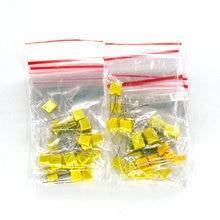 50 шт./лот, корректирующий конденсатор, комплект, 10 значений, полипропилен, безопасная пластиковая пленка, конденсатор, комплект 1nF-0.47uF