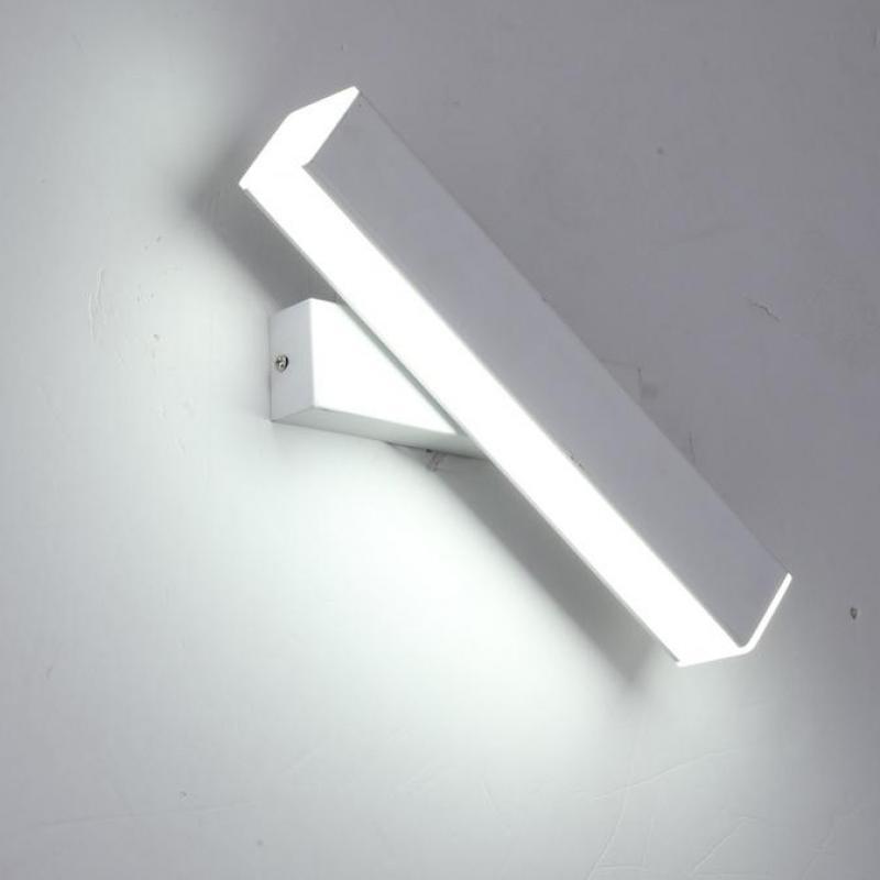 Mur LED rotatif nordique allume les lampes de lecture de chevet d'escalier acrylique d'hôtel moderne allume les lumières de chevet de mur de salon