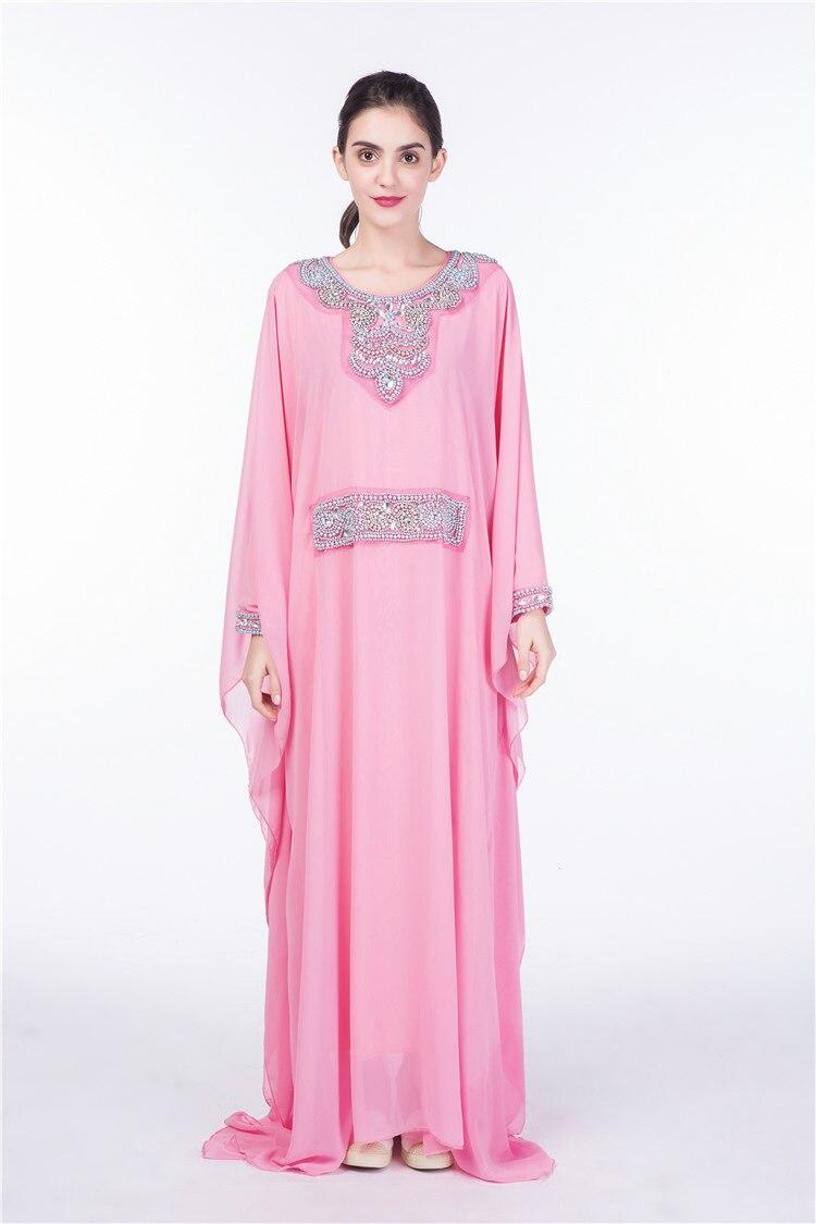 Femmes broderie à manches longues musulman abaya robe robe dubaï marocain Caftan Caftan islamique abaya vêtements turc arabe robe 15