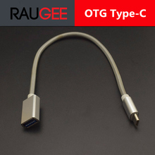 raugee Type-C OTG Date Cable Connector TypeC USB 3.1 3.0 Type C To Female OTG Cable Adapter For OnePlus 3 2 Lenovo ZUK Z2 Pro