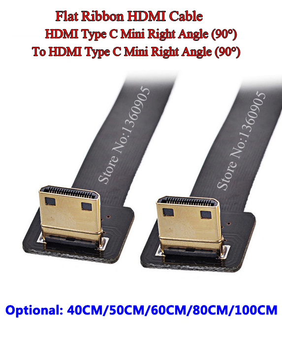 40CM/50CM/60CM/80CM/1M FPV HDMI Soft Mini right angle 90 degree Male to Male Right Angle 90 Degree Ribbon FPC Flat Ribbon Cable 90 degree right angle direction usb tpye a male to 5pin right angle micro b male adapter data sync charge cable cord 08