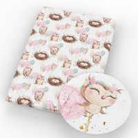 David accessoires 50*145cm hibou fleur Polyester coton tissu pour tissu enfants maison textile pour coudre Tilda poupée tissu, c5032