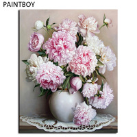 Hot Selling Flower Frameless Pictures Painting By Numbers Handwork Canvas Oil Painting Home Decor For Living