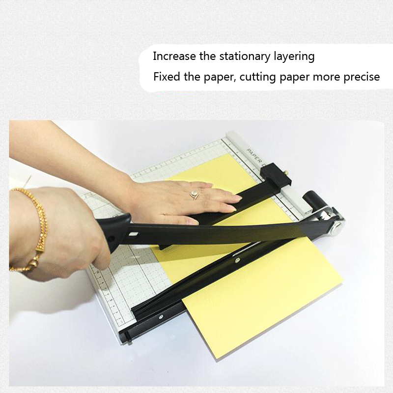 Paper Cutter A4 Paper Trimmer Heavy Duty White Photo Guillotine Craft Machine 12 Inch Cut Length,10 Sheets Capacity