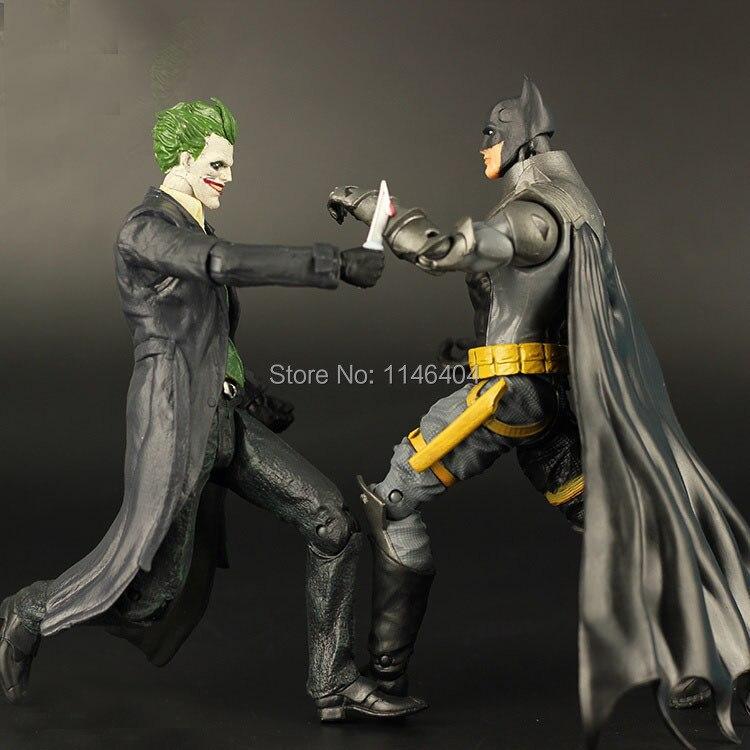 """2pcs/lot DC <font><b>Super</b></font> <font><b>Hero</b></font> <font><b>Batman</b></font>/<font><b>the</b></font> <font><b>Joker</b></font> Arkham Origins <font><b>PVC</b></font> <font><b>Action</b></font> <font><b>Figure</b></font> Collection Toy 7"""" 18CM"""