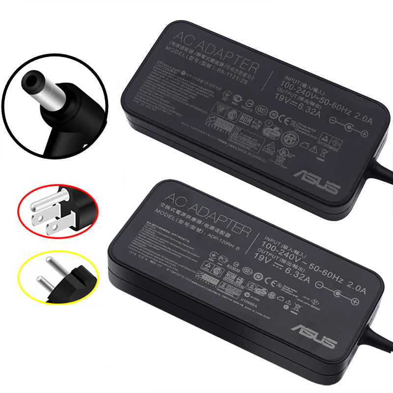 19V 6.32A 120W 5.5*2.5mm ASUS Laptop Adapter Power Supply Charger with Cord For Asus N750 N500 G50 N53S N55 Notebook