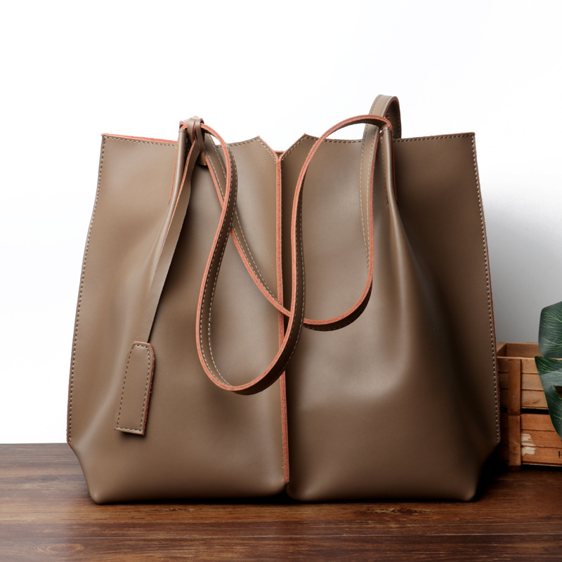 DorisFanny High Quality Leather Women Bag Shoulder Bags Solid Big Handbag Large Capacity Top-handle Bags Fashion New Arrivals ...