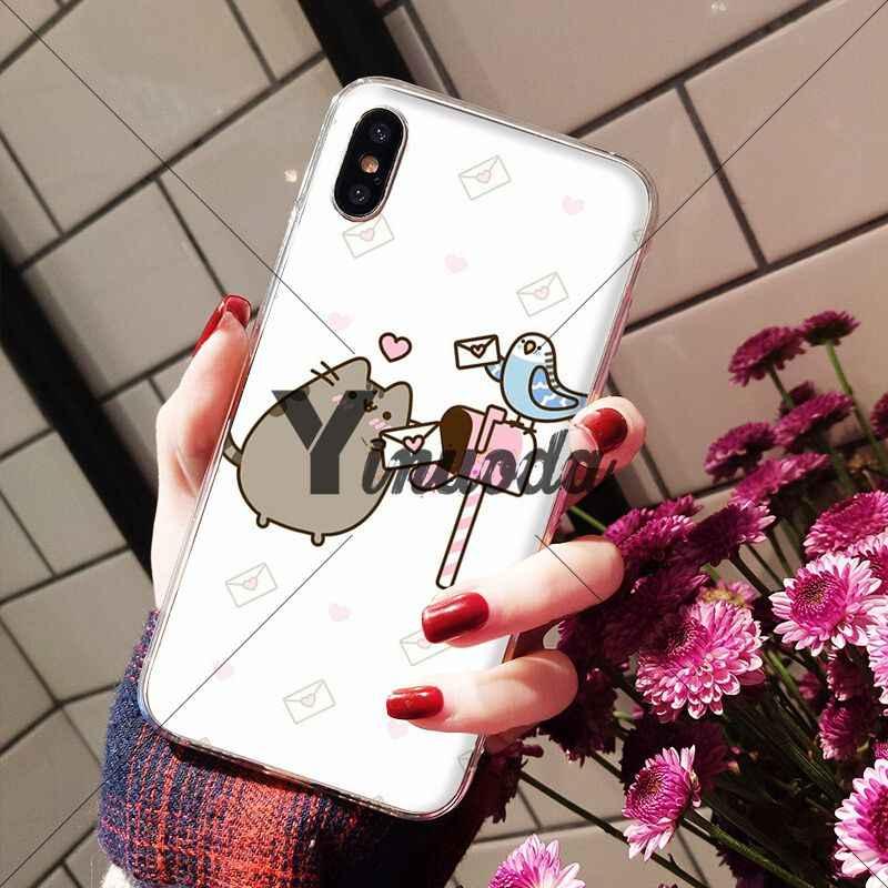 Yinuoda Molang Kawaii Anime Dos Desenhos Animados do gato do cão Acessórios Do Telefone DIY Case para iPhone Da Apple 8 7 6 6 S Plus X XS MAX 5 5S SE XR Tampa