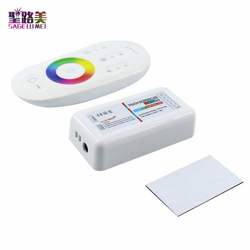 2016-DC12V-24V-RGBW-Led-Controller-2-4G-RF-Touch-2Screen-Remote-Control-6A-4-Channel