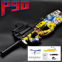 New Updated P90 Graffiti Edition Electric Toy GUN Water Bullet Bursts Gun Live CS Assault Snipe Weapon Outdoor Pistol Toys