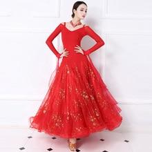 Standard Ballroom Dance Dress Women Tango Flamenco Waltz Dancing Skirt Ladys High Quality Dresses