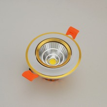 Newes LED COB Ceiling light 5W 7W10W COB Chip LED Recessed Downlight Spot Light Lamp AC85-265V White/ warm white