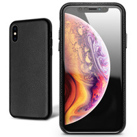 QIALINO Fashion Ultra Thin Phone Case for iPhone X /XS Luxury Genuine Leather Bag Sleeve Back Cover for iPhone XS Max 6.5 inches