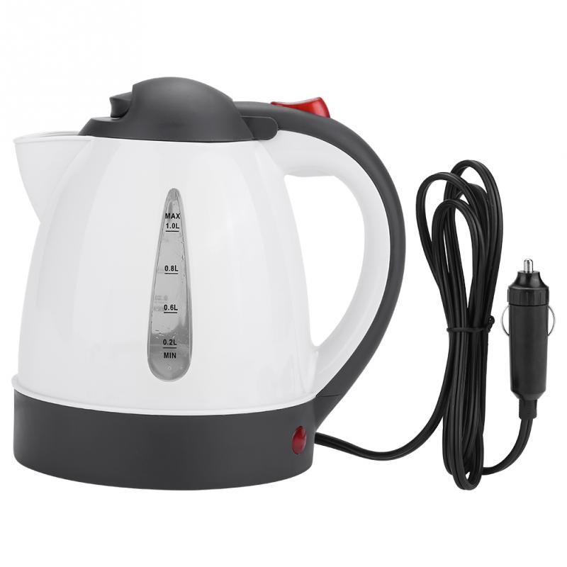 24V/12V 1000ML Electric Kettle Hot Water Chaleira Waterkoker Heater Travel Auto for Tea Coffee 304 Stainless Steel Czajnik