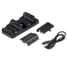 Original Dual USB Chargeing Dock Station For X-ONE + 2 Rechargeable Battery Charger for Xbox One Wireless Controller Accessories