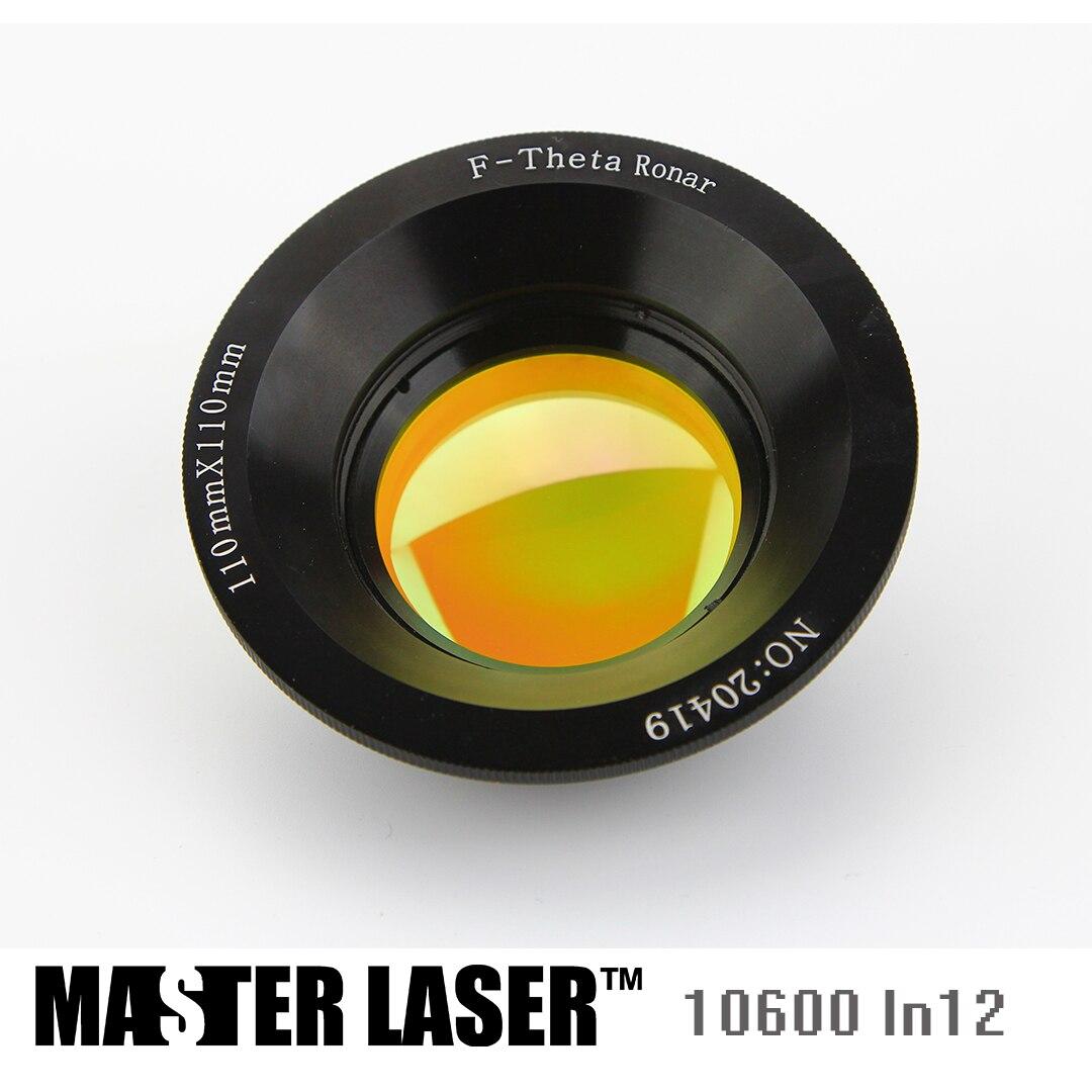 10.6um USA CVD ZnSe CO2 Galvo F-theta Scan Lens System for Laser Marking Machines Galvo Scanner Galvonmeter scan area 110 110yag semiconductor fiber galvo f theta scan lens system for laser marking machine sl 1064 f100 70 70