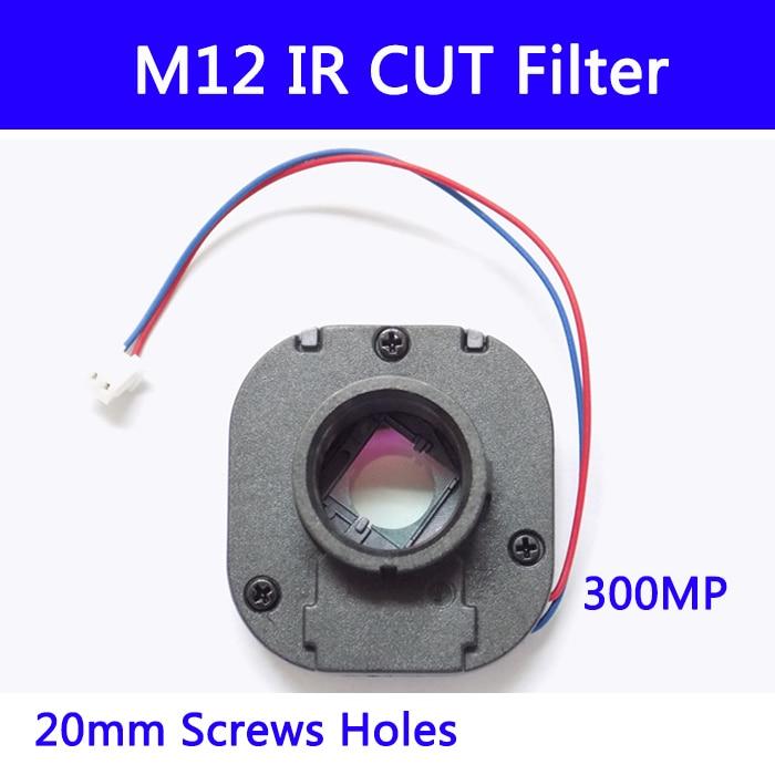 10pcs/ M12 IR Cut Filter IR-CUT Double Filter Switcher For Cctv IP AHD Camera 3MP Day/night 20MM Lens Holder 7213