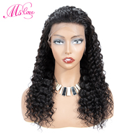 Brazilian Deep Wave 13*4 Lace Front Human Hair Wigs Frontal Lace Wigs With Baby Hair Natural Hairline 150% ML LOVE Remy
