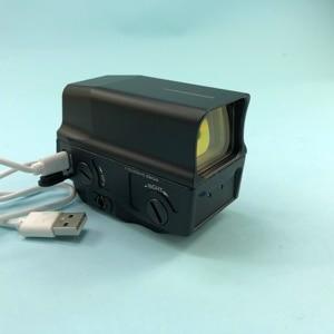 Image 4 - Регулируемый Оптический голографический прицел с красной точкой, прицельное виверное прицельное ружье с USB зарядкой для страйкбольной охотничьей винтовки