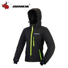 BENKIA Blue Women's Motocross Jacket Motorcycle Jacket Spring Summer Wind Coat Windbreaker With Removable Hood