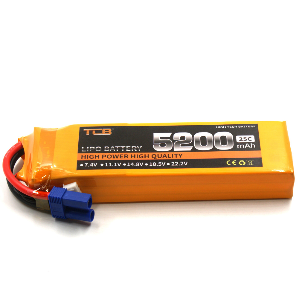 TCB RC Airplane LiPo Battery 3S 11.1V 5200mAh 25C Li-Po batteries 3S FOR RC Drone Helicopters Car Lithium-Polymer Cell mos rc airplane lipo battery 3s 11 1v 5200mah 40c for quadrotor rc boat rc car