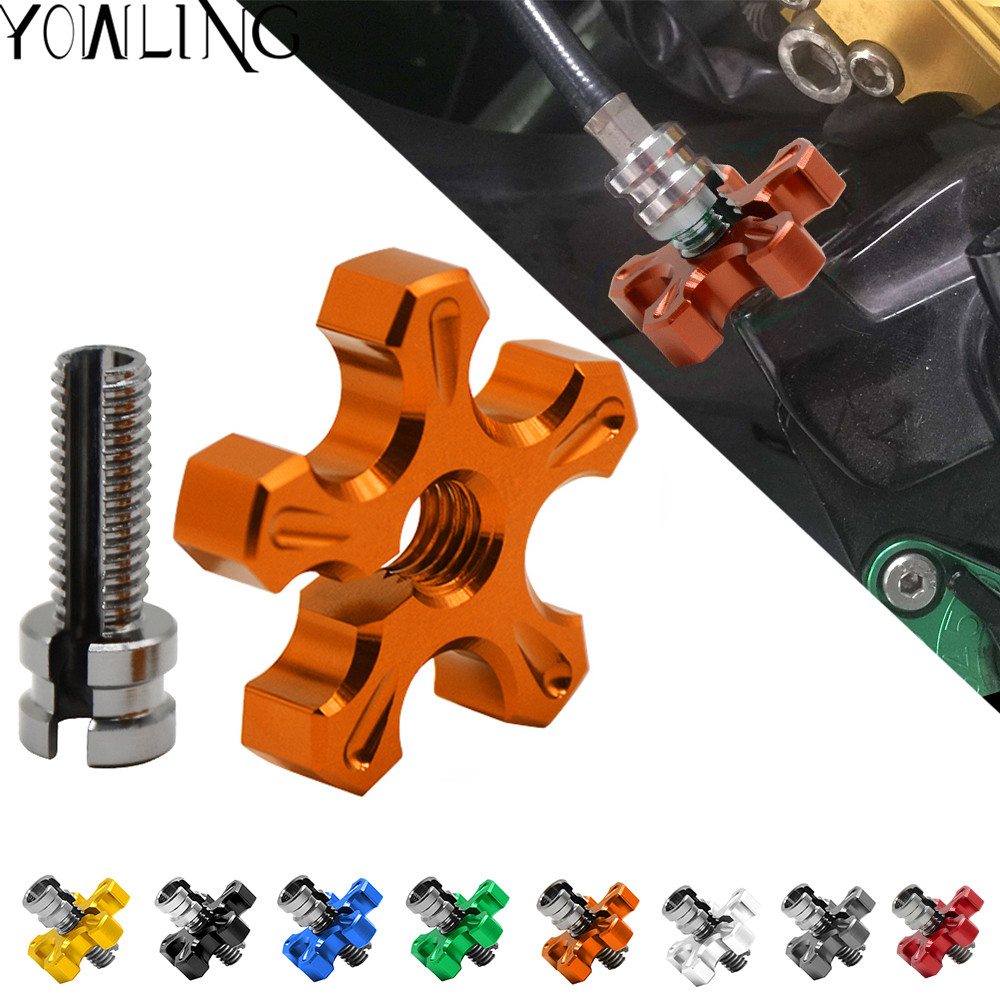 Universal 8MM 10MM Motorcycle CNC brakes Clutch Cable Brake Wire Adjuster Screw for KTM DUKE 125/200/390 RC390 RC 390 2012-2017 for ktm 390 duke motorcycle leather pillon passenger rear seat black color