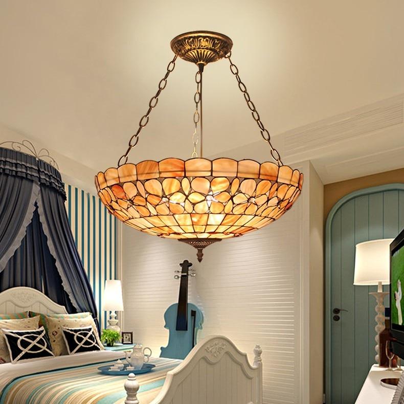 20 pollici Tiffany Mediterraneo stile naturale del pendente di shell luci lustri luce di notte ha condotto la lampada da terra bar a casa di illuminazione