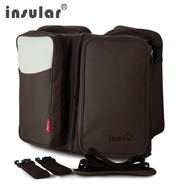 INSULAR Nappy Bags Changing Diaper Bag Organizer Portable Baby Bed Flat For Easy Storage Combo Travel Bag For Baby Stroller