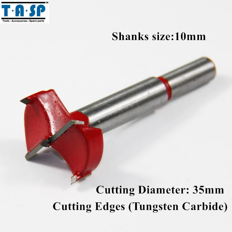 TASP 35mm Forstner Drill Bit Wood Hole Saw with Tungsten Carbide Cutting Edge 96pcs 130mm scroll saw blade 12 lots jig cutting wood metal spiral teeth 1 8 12pcs lots 8 96pcs
