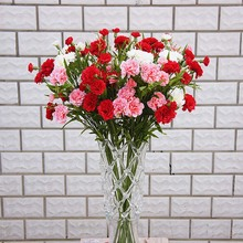 Artificial flowers cheap for christmas home wedding decor accessories diy Mothers Day gift fake plastic flowers silk carnation