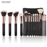 Docolor 15pcs Makeup Brush Set High Quality Soft Synthetic Hair And Nature BristlesProfessional Makeup Artist Brush