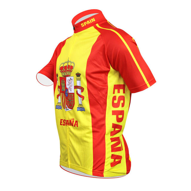 Nova Ciclismo Jerseye espanha Amarelo Vermelho Homens MTB Bicicleta de  Estrada Sopa de Manga Curta roupas deb0c4665fc61