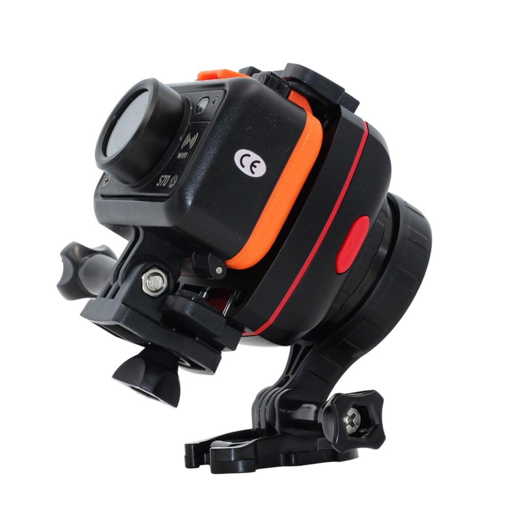 LANBEIKA For Gopro Adjustable Gryo Anti-shake Gimbal Stabilizer Tilt Head Tripod Mount Adapter for Gopro 5 4 3+SJCAM SJ6 SJ7 M20 three dimensional adjustable helmet side mount for gopro hero 3 3 2 1 black