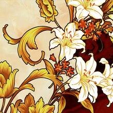 "Custom 3D Ceiling Mural Wallpaper European Style ""Beautiful Flowers"""