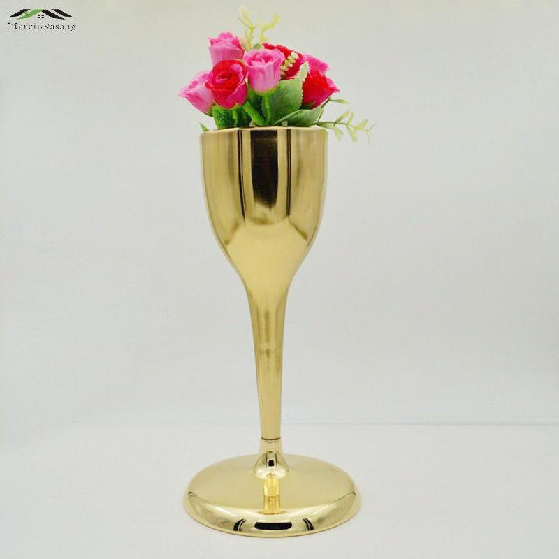 2pcs Lot Silver Metal Wedding Flower Vase Table