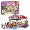 Bela 10162 Amigos do Parque Da Cidade Cafe Jogo Blocos Tijolos Brinquedos Menina Dom casa Compatível com Legoe Lepin Decool 3061 Presentes Toy Kids