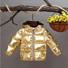 цена на Boys girls down coats kids winter jacket toddler boys down cotton hooded Waterproof snowsuit baby boy girl clothes Hooded parka