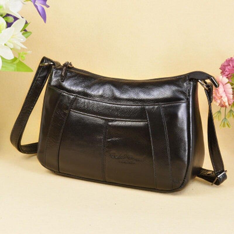 Luggage & Bags Hot Slae New Item Genuine Leather Small Messenger Bags For Ladies Handbags Female Cowhide Shopping Packs Single Shoulder Bag